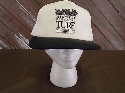 Midwest Regional Turf Foundation Hat Purdue Univ Cap Style White One Size