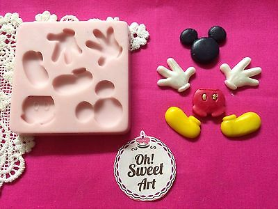 Complete Mickey Mouse silicone mold fondant cake decorating APPROVED FOR FOOD