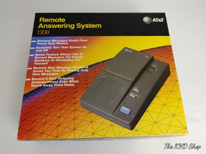 Vintage Remote Answering System Machine AT&T 1308 Brand New.
