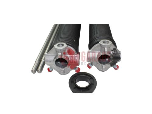"""Pair of .225 Garage Door Torsion Springs Any Length Up to 36"""" With Winding Bars"""