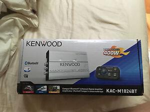 KENWOOD BLUETOOTH 4 CHANNEL DIGITAL AMPLIFIER.  NEED GONE