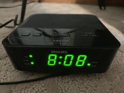 Philips Digital Alarm Clock FM Radio AJ3116M/37 Tested Working Color Black