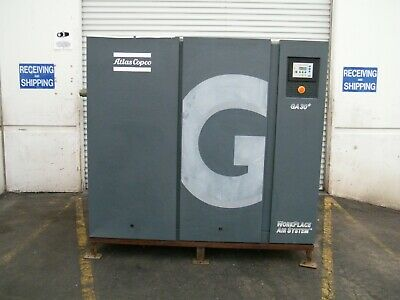 Atlas Copco Ga30plus 40 Hp Rotary Screw Air Compressor Kaeser Ingersoll Rand