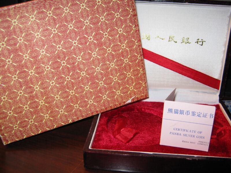CHINA - 1987  - ORIGINAL BOX & COA - FOR THE 50 & 10 YUAN - SILVER PANDA PROOFs