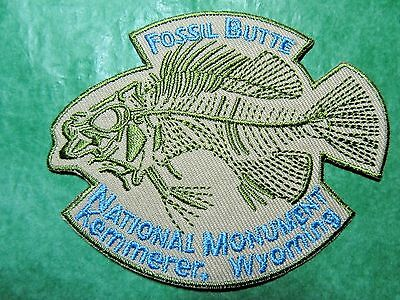 FOSSIL BUTTE NATIONAL MONUMENT KEMMERER WYOMING EMBROIDERED PATCH SOUVENIR-P8