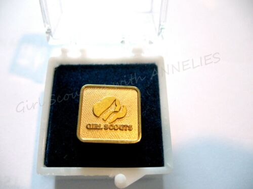 NEW Official APPRECIATION Pin Adult Girl Scout Box Award COLLECTOR CHRISTMAS
