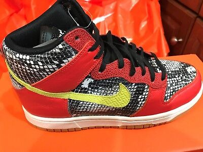 new york 6cd93 7dd8b New Nike Womens Dunk Hi LX Lux Shoes Sneakers 881233-800 sz 7 Python FREE