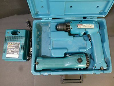 Makita Battery Fast Charger Dc9015 Used 6095d Driver Drill Touchlight