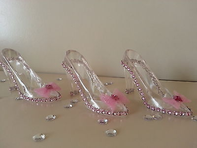 12 Fillable Cinderella Slippers Favors Birthday Sweet 16 Bridal Shower ~Wedding  - Cinderella Bridals