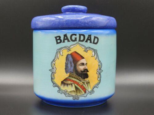 Vintage Bagdad Tobacco Jar Humidor Tobacciana HARD-TO-FIND