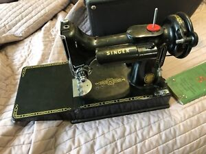 Vintage 221-1 Singer Portable Sewing Machine