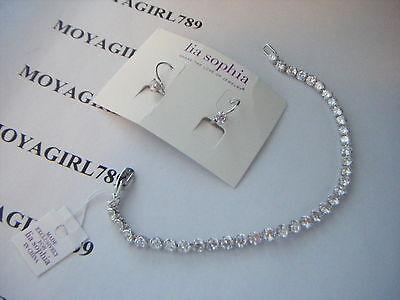 Lia Sophia Angora Earrings   Bracelet Set Rv  98
