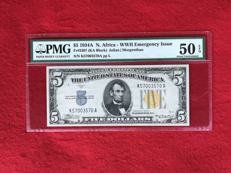 FR-2309 1934 A Series North Africa WWII $10 Silver Certificate *PMG 45 EPQ*