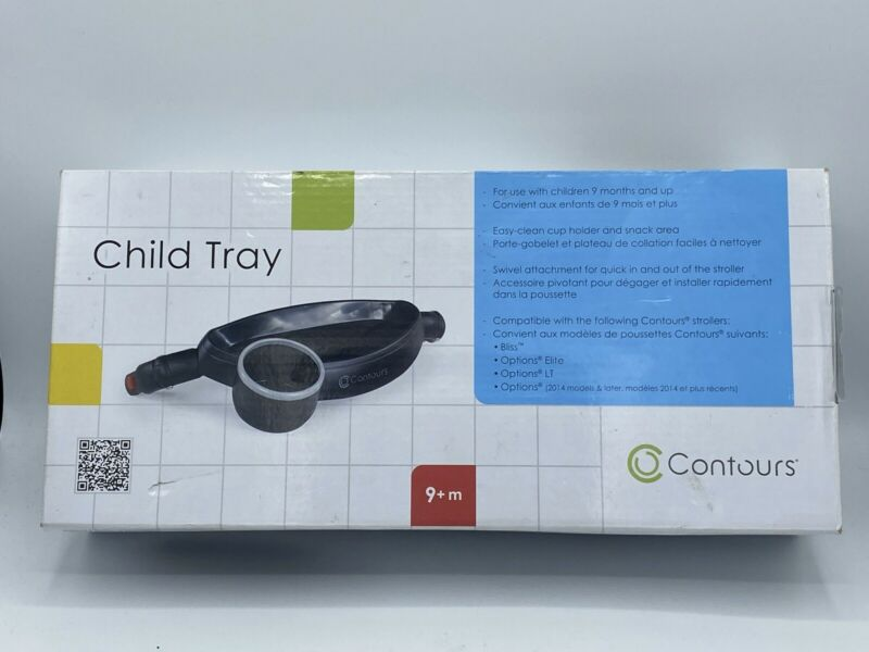 Contours Stroller Child Tray with Cup Holder -Compatible with Contours Bliss NIB