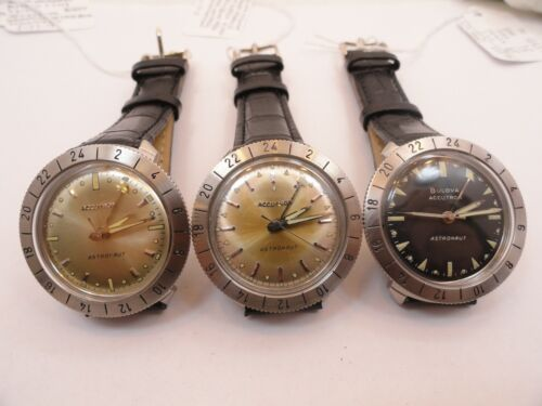 REPAIR SERVICE ACCUTRON ASTRONAUT WATCH MODEL 214HN GMT ONLY, FREE SHIPPING