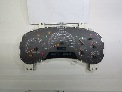 2002 TO 2007 CHEVY TRAILBLAZER INSTRUMENT CLUSTER EXCHANGE LED UPGRADE WO/DIC