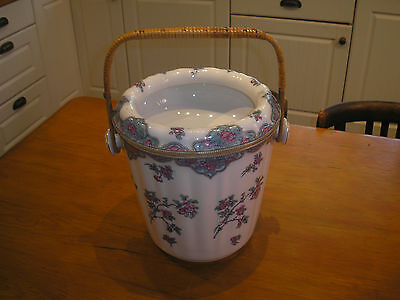 ANTIQUE Losol HAND DECORATED WASTE or SLOP BUCKET