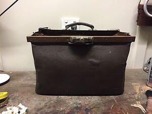 Vintage Retro Leather work bag .!960's Dora Creek Lake Macquarie Area Preview