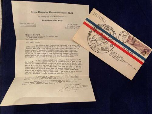 George Washington Bicentennial Airplane Flight JAMES DOOLITTLE SIGNED Letter
