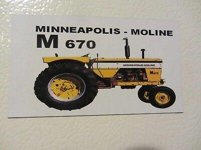 Minneapolis Moline M670 Fridgetool Box Magnet