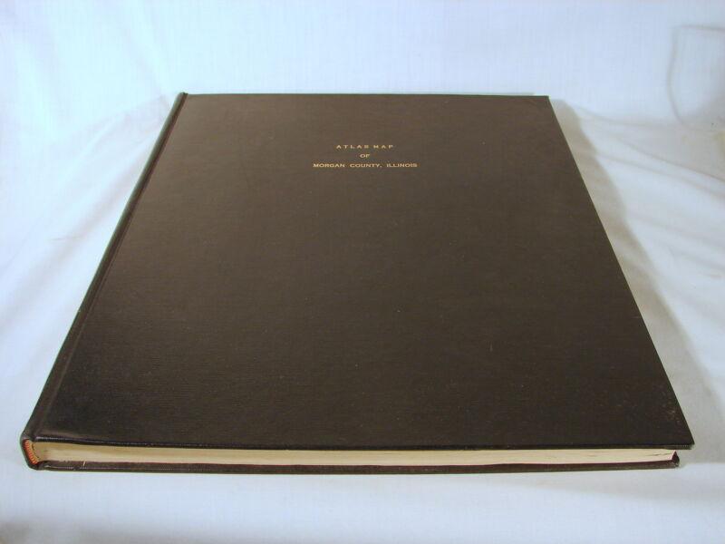 1872 Morgan County, Illinois IL Atlas, Genealogy Settlers  Excellent Rebound Cnd