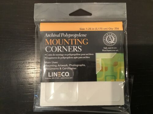 Lineco Archival Polypropylene Mounting Corners, Full View, 1.25 inch, 45 Pack