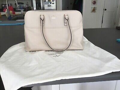 kate spade leather tote bag with removable lap top sleeve. Excellent condition.