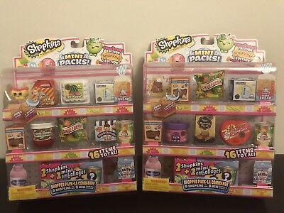 Shopkins Season 10 Mini Packs Shoppers Pack - Lot Of 2 Random Packs - Authentic
