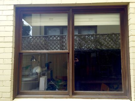 Windows with wooden frame x 2 (Med + Small) Naremburn Willoughby Area Preview
