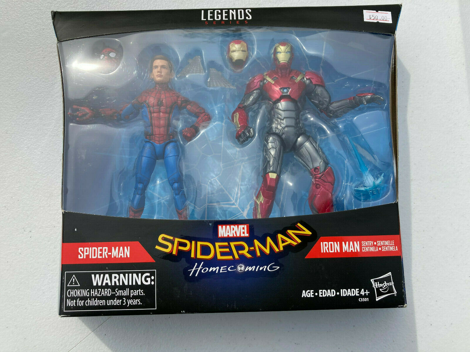 SPIDER-MAN SENTRY IRON MAN Homecoming Marvel Legends 6 Figures NIB - $63.01