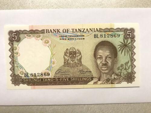 1966 Tanzania 5 Shillings CU #15483