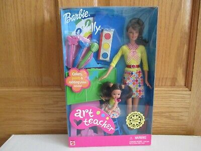 Art Teacher Barbie & Kelly Dolls New 2002 (Barbie Doll Art Teacher)