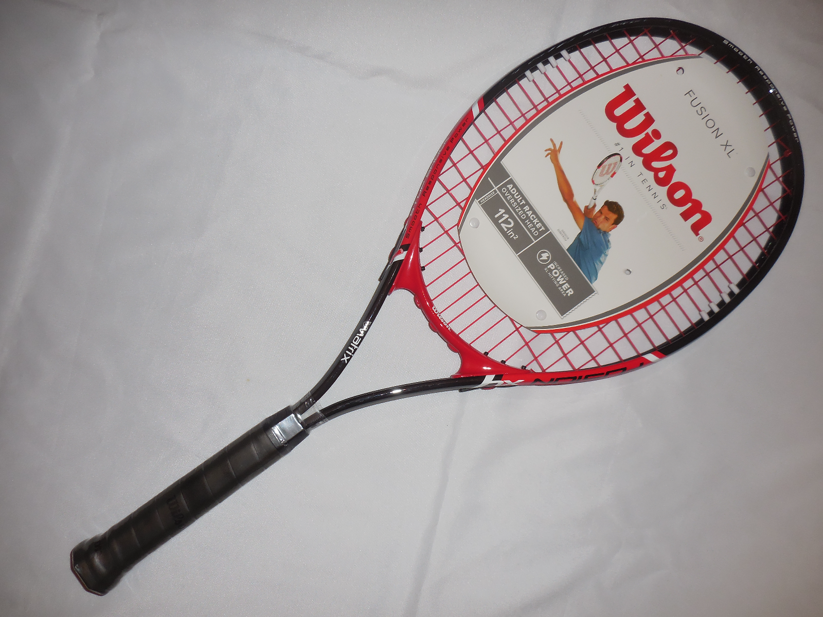 Wilson FUSION XL V Matrix Oversized 112in Head Tennis Racket