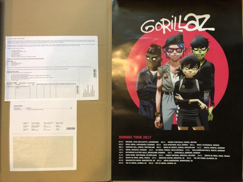 Gorillaz Humanz Euro Tour Poster