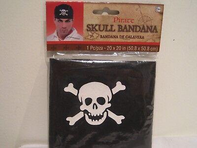 Halloween Pirate Costume Ideas (Adult Pirate Skull & Bones Bandana Headwear New in Package - Gift Idea?)