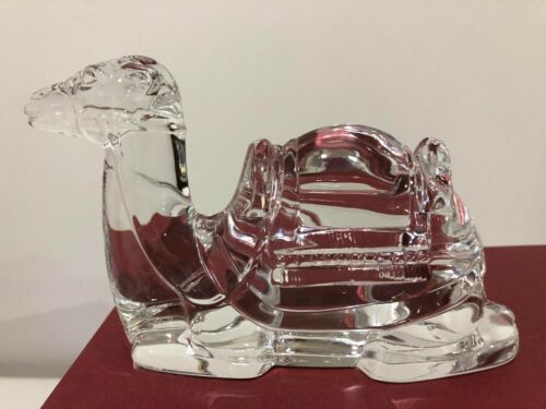 Waterford Crystal Vintage Retired Camel Nativity Stable Christmas Collection