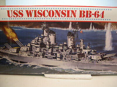 USS WISCONSIN BB-64 IOWA CLASS BATTLESHIP ATLANTIS 1:535 PLASTIC MODEL SHIP KIT Iowa Class Battleship