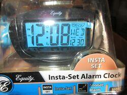31022 Equity by La Crosse Insta-Set LCD Digital Alarm Clock