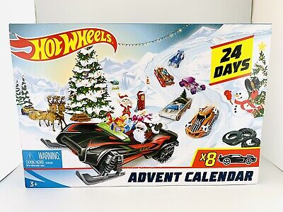 Hot Wheels 2019 Christmas Advent Calendar 8 Cars 16 Accessories Toy Sale NEW