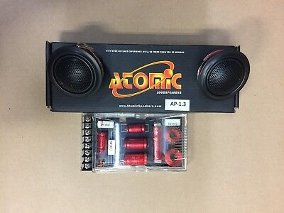 ATOMIC AP1.3  30mm Super Dome tweeters. speakers w/ crossover Top of the line! (Top Of The Line Car Audio Speakers)