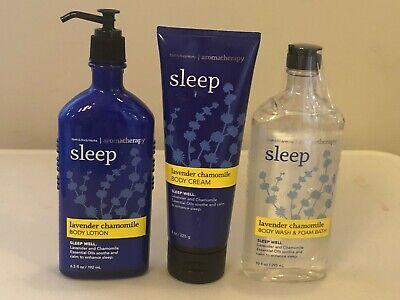 Bath & Body Works Aroma Sleep Lavender Chamomile Body Cream Wash Lotion Pick -