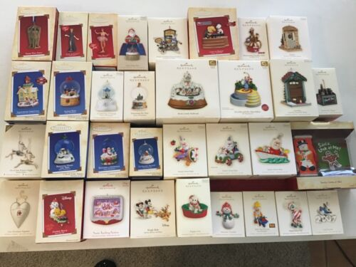 Hallmark Lot of 33 Ornaments