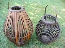 WOODEN LANTERNS X 2 Coombabah Gold Coast North Preview