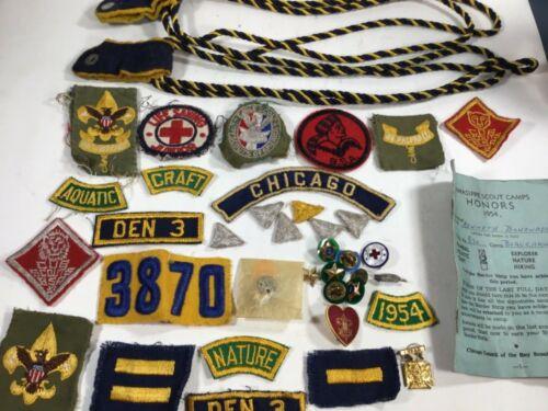Lot 1950's BSA Boy Scouts Pins Patches Lot