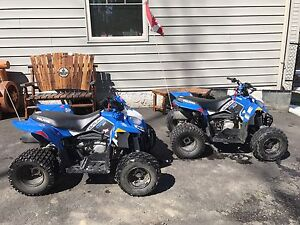I have 2 2015 Polaris  outlaw 110 kids quads for sale