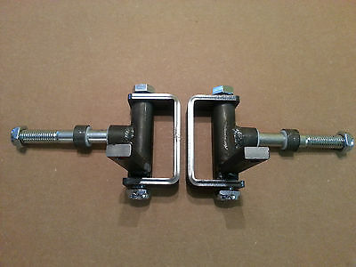 """Complete 5/8"""" axle Steering Spindle Bracket set w/ nylon inserts Dolly, Go Kart"""