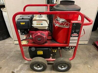 Used Shark Sgp353037 Gasdiesel 3.5gpm 3000psi Hot Water Pressure Washer