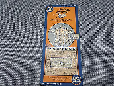 Card Michelin No 56 Paris-Reims 1936/Collector Bibendum Vintage
