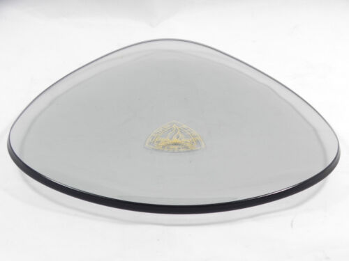 VINTAGE CAMP FIRE GIRLS Rare Triangle Smoked GLASS PLATE TRAY with Logo