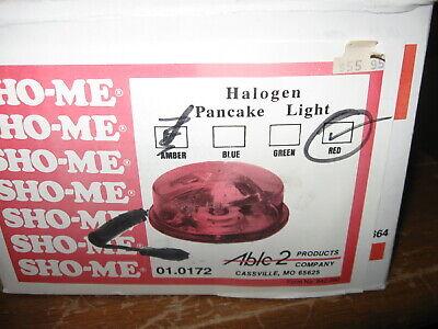 New Sho-me Able-2 Red Halogen Mount Vehicle Pancake Light Pn- 01.0172